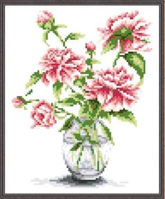 5d beaded cross stitch tulip flower vase embroidery beads