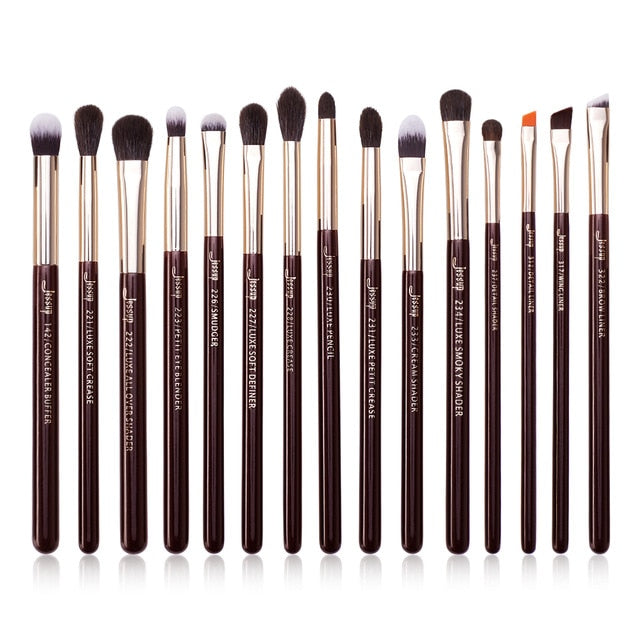 Makeup Brush 15pcs Black/Silver