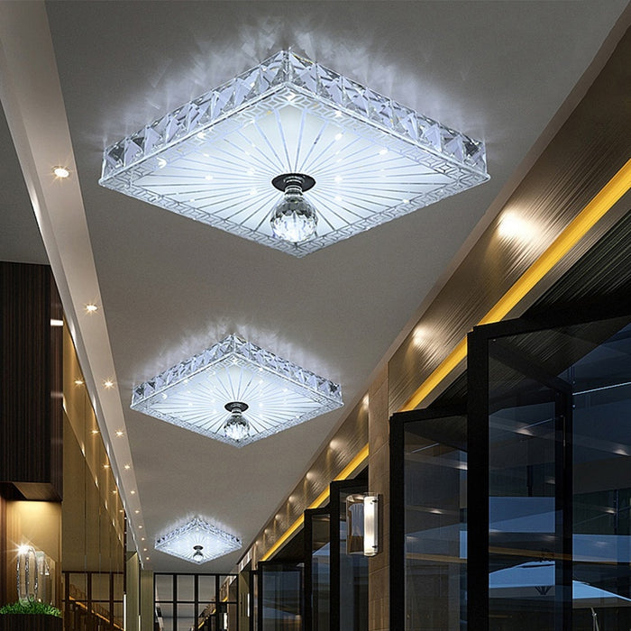 Modern LED Ceiling lights Aisle Veranda Lighting Down Crystal Mordern