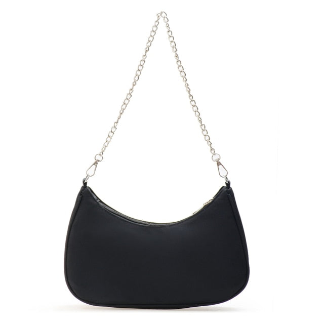Solid Color Shoulder Purse