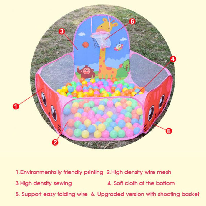 Ball Pool Pit With Basket Children Toy