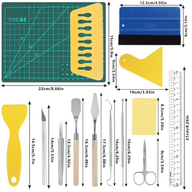 19pcs/22pcs Craft Vinyl Weeding Tools Set