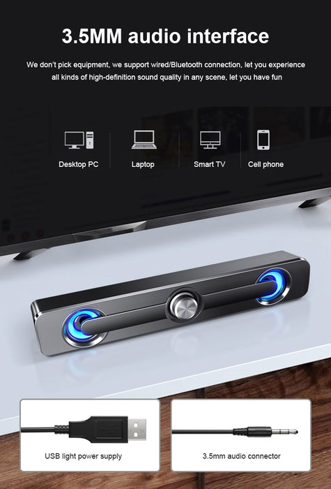 HiFi Detachable Wireless Bluetooth Sound bar Speaker