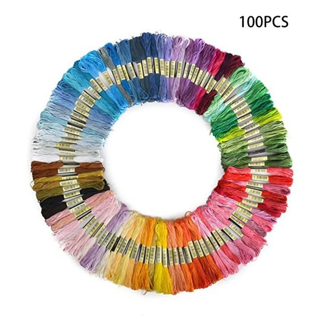 50 Colors 100 Colors Cross Stitch Thread Polyester Cotton Embroidery