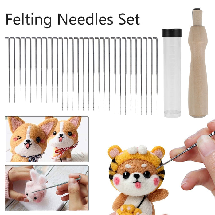 Sewing Needles 3 Sizes Felting Needles Wool Felt Pocked Needles Set