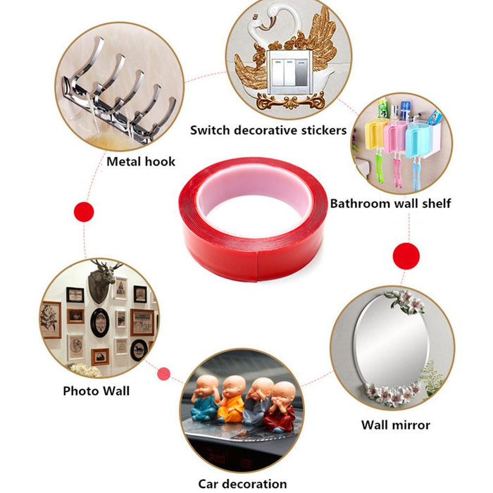 10 mm Transparent Silicone Double Sided Tape Household Wall Adhesive Tapes