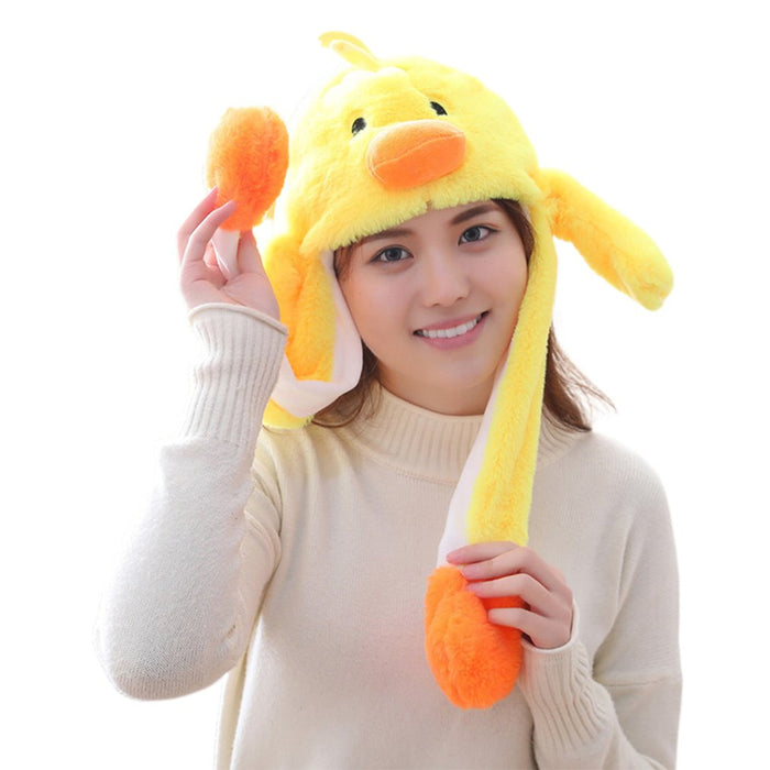 Girls Animals Ear Moving Jumping Hats