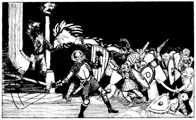 Artwork from Holmes Basic with infamous 'pig-orcs'
