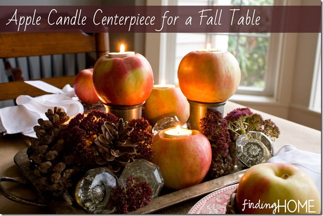 Apple Candle Tablescape Heading
