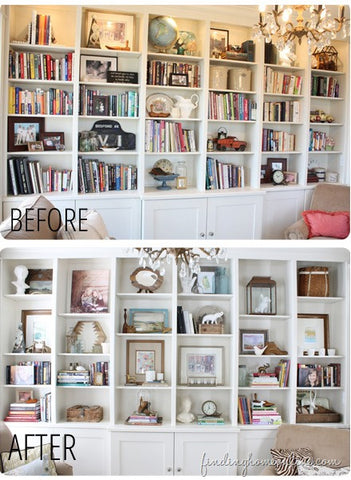 Before & After Bookcase