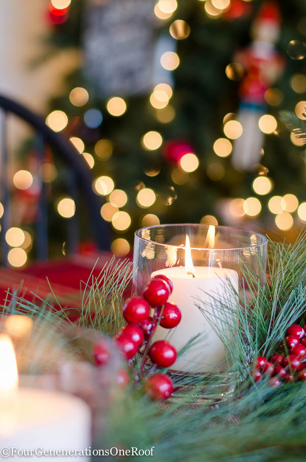 Christmas tablescape with greens-12