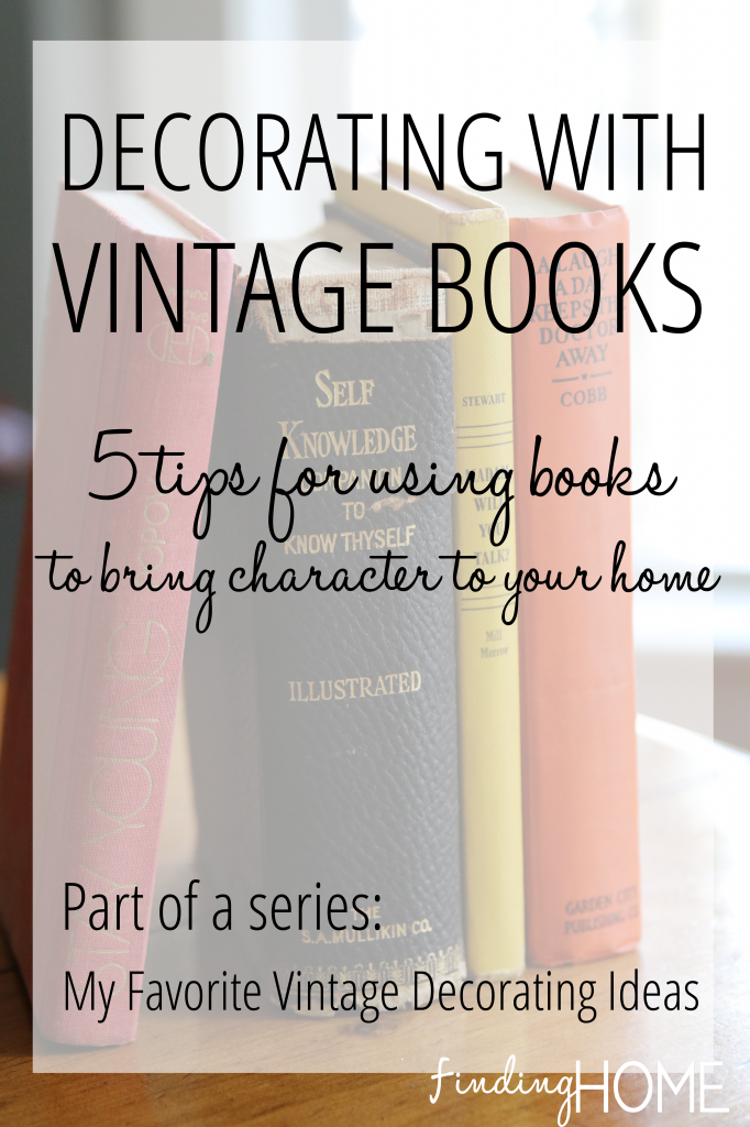 Decorating-with-Vintage-Books