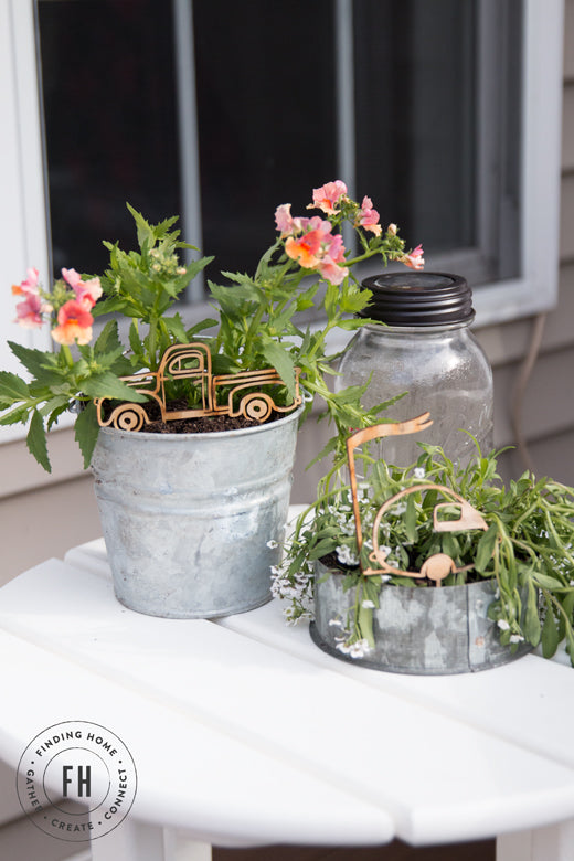 Decorating Outdoors with Galvanized Planters