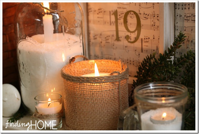 Finding Home Christmas Mantel Candle wm