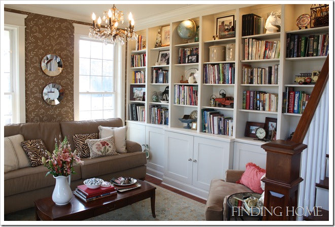 Finding Home Living Room Book Case