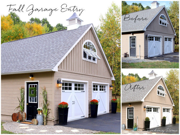 Garage Before and Outdoor Makeover