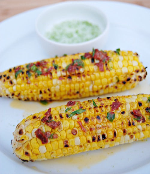 Grilled Corn with Chipotle Butter and Lime Salt 03