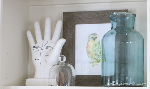 Bookcase Decor Groupings
