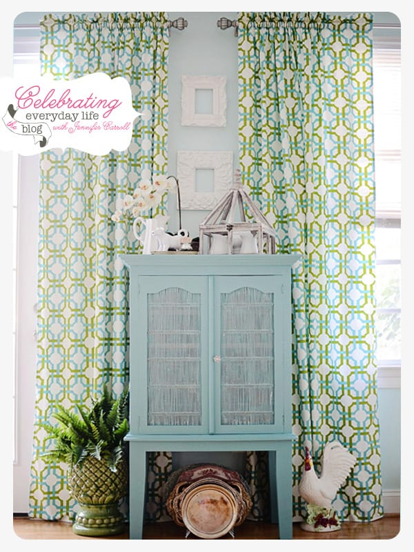 Hutch painted with Annie Sloan Chalk Paint in Provence, Celebrating Everyday Life blog