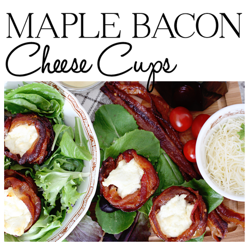 Maple Bacon Cheese Cups - Maple Syrup Recipe