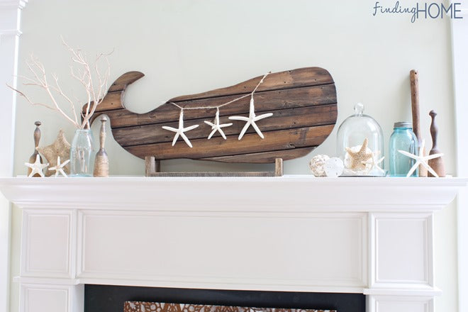 Reclaimed Wood Whale Art from Finding Home