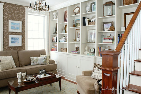 Styling a Living Room Bookcase