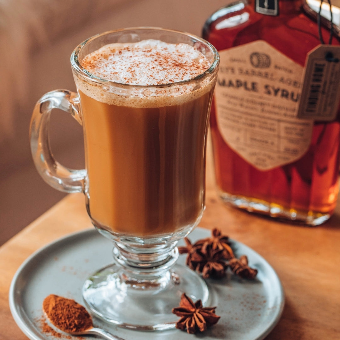 Maple Syrup Recipe - Maple Latte Coffee - Hot Coffee Drink