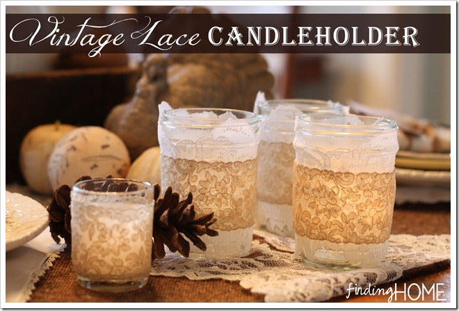 Vintage Lace Candle Holders 2