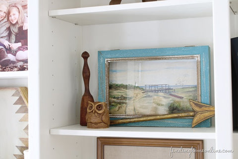 Watercolor Painting in Bookcase