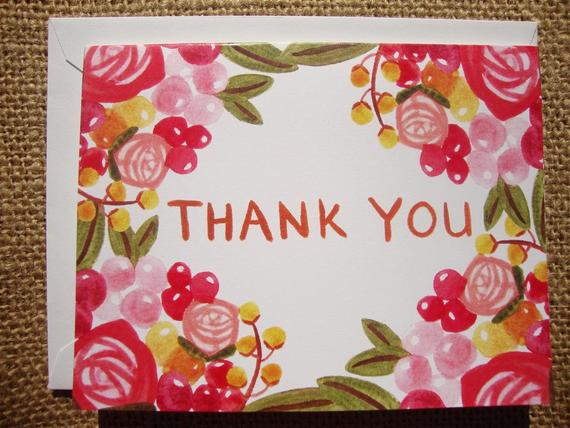 Bright Flower Thank You (set of 6)