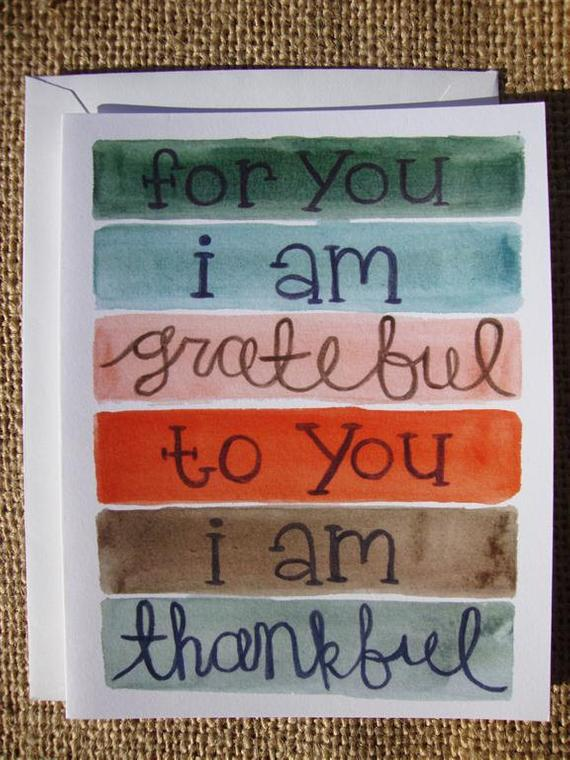 Color Block Thank You Card (Set of 6) Hand Painted