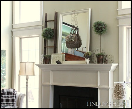 spring mantel, family room march auction 231