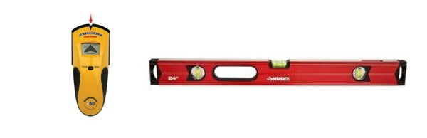stud finder and level copy