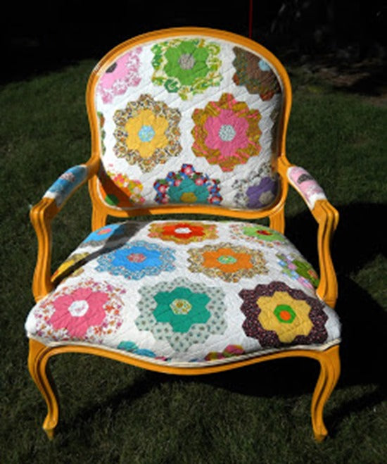 yellow quilt chair