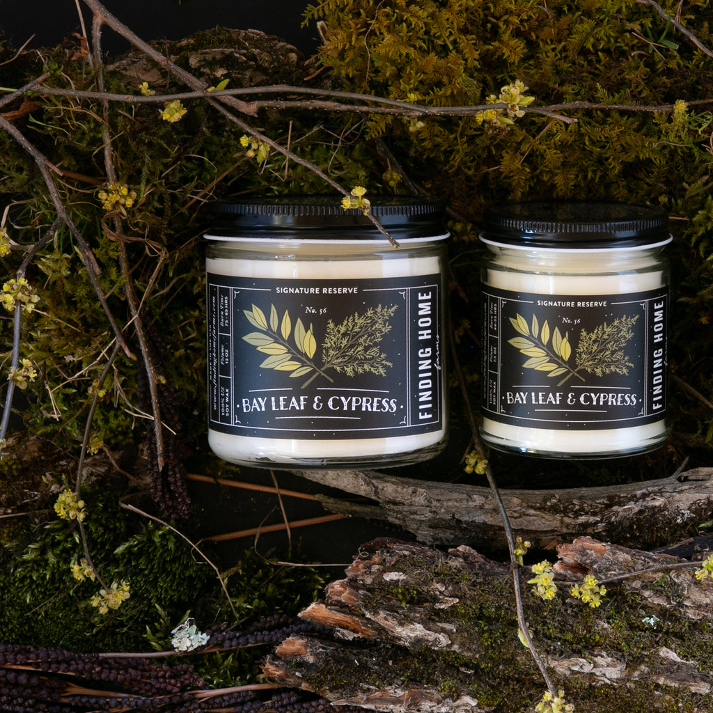 Bay Leaf & Cypress - Herbal Scented Candles - Finding Home Farms