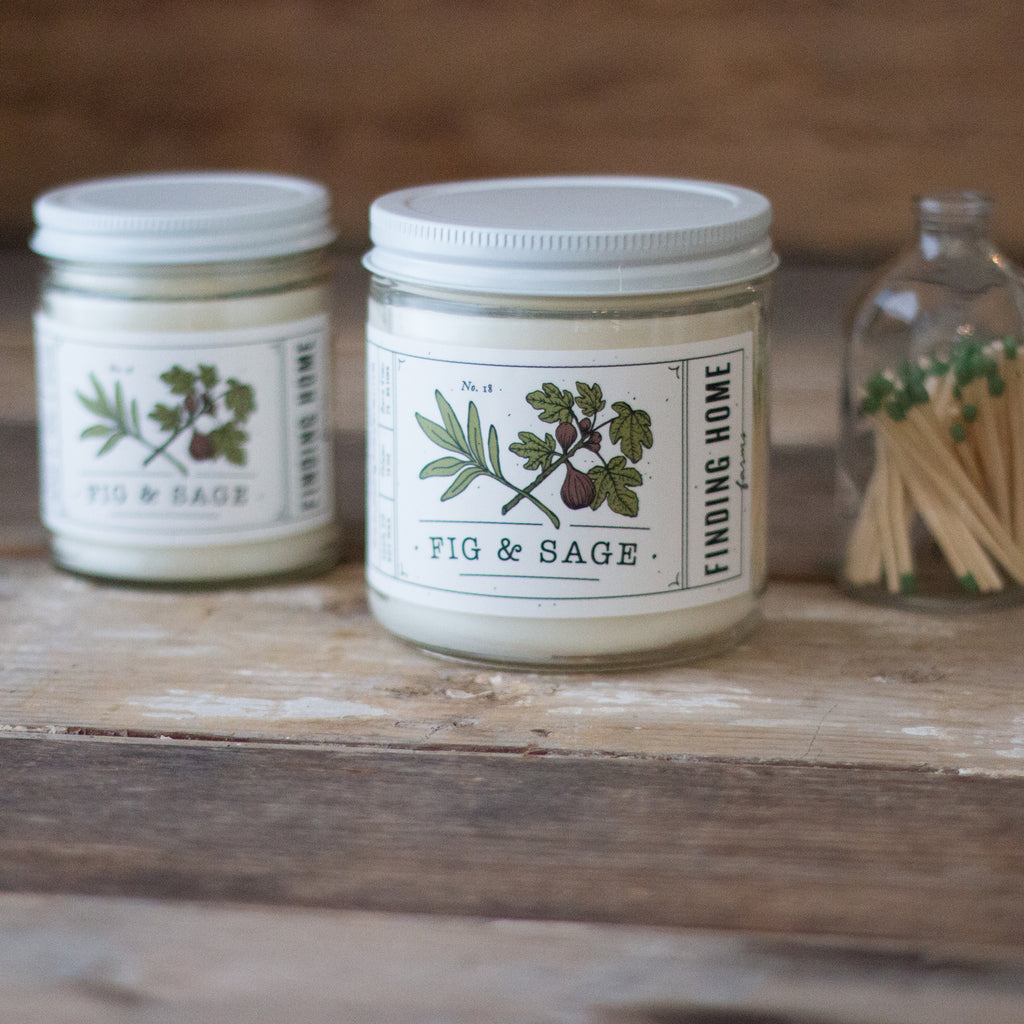 Fig & Sage Soy Candles - Sweet Scented Candle - Finding Home Farms
