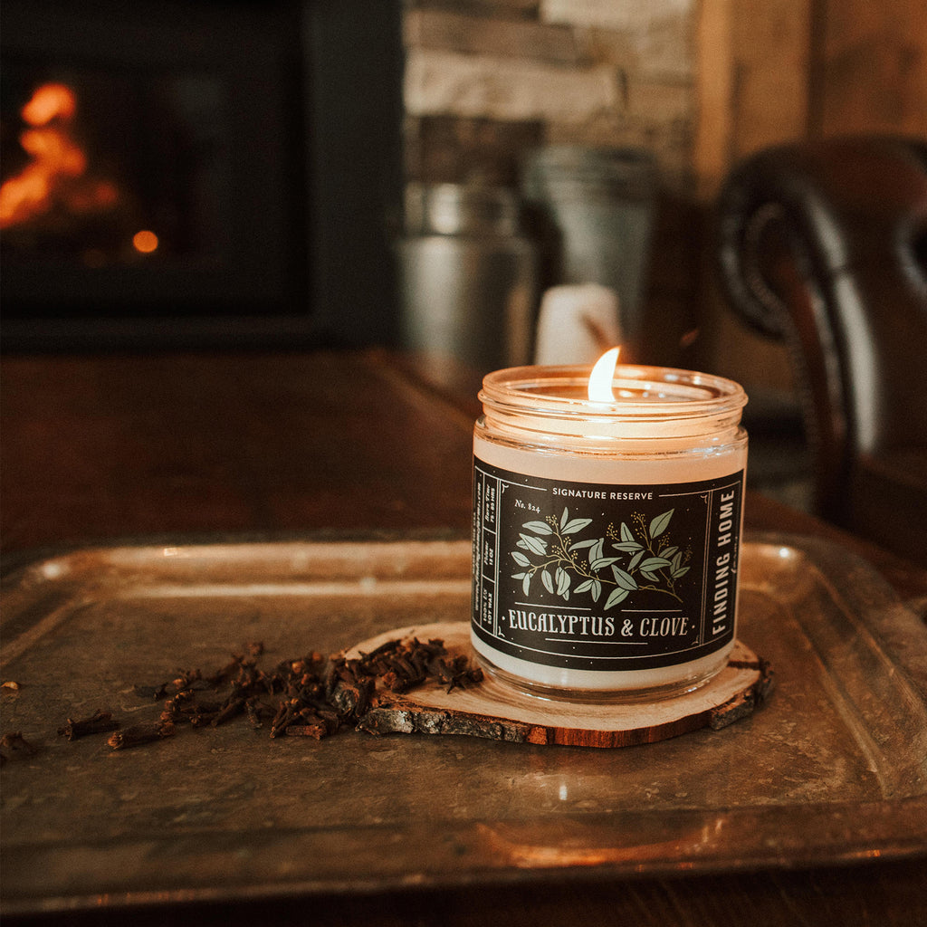 Eucalyptus & Clove Soy Candles - Refreshing Candles - Finding Home Farms