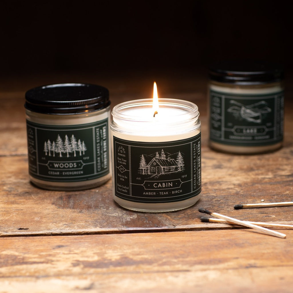 Cabin Soy Candle - Cedar Lakes Estate Candle Collection