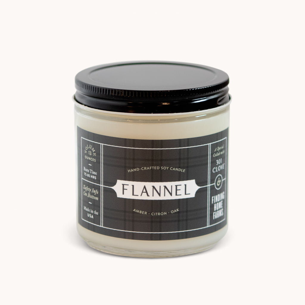 Flannel Soy Candle - Comforting Candle