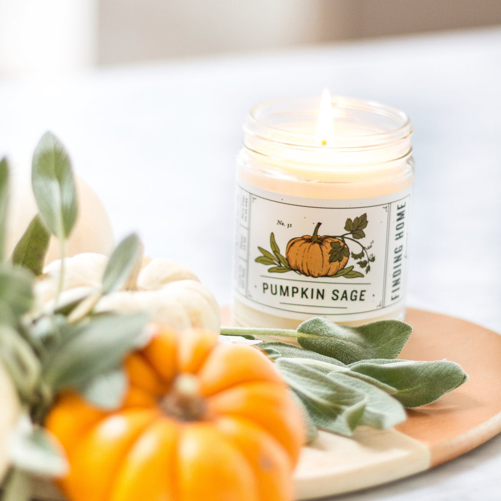 Pumpkin Sage Soy Candle - Best Fall Candle - Finding Home Farms