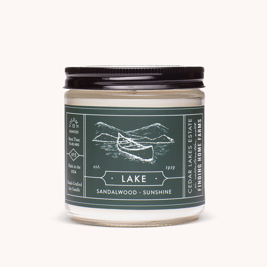 Cedar Lakes Estate - Lake Soy Candle - Fresh Scented Candle - Finding Home Farms