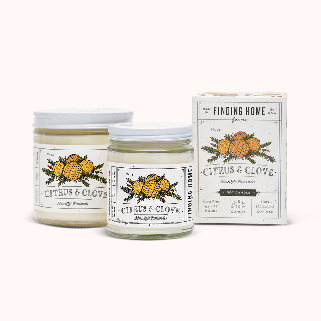 Citrus & Clove Soy Candles - Citrus Scented Candle - Finding Home Farms