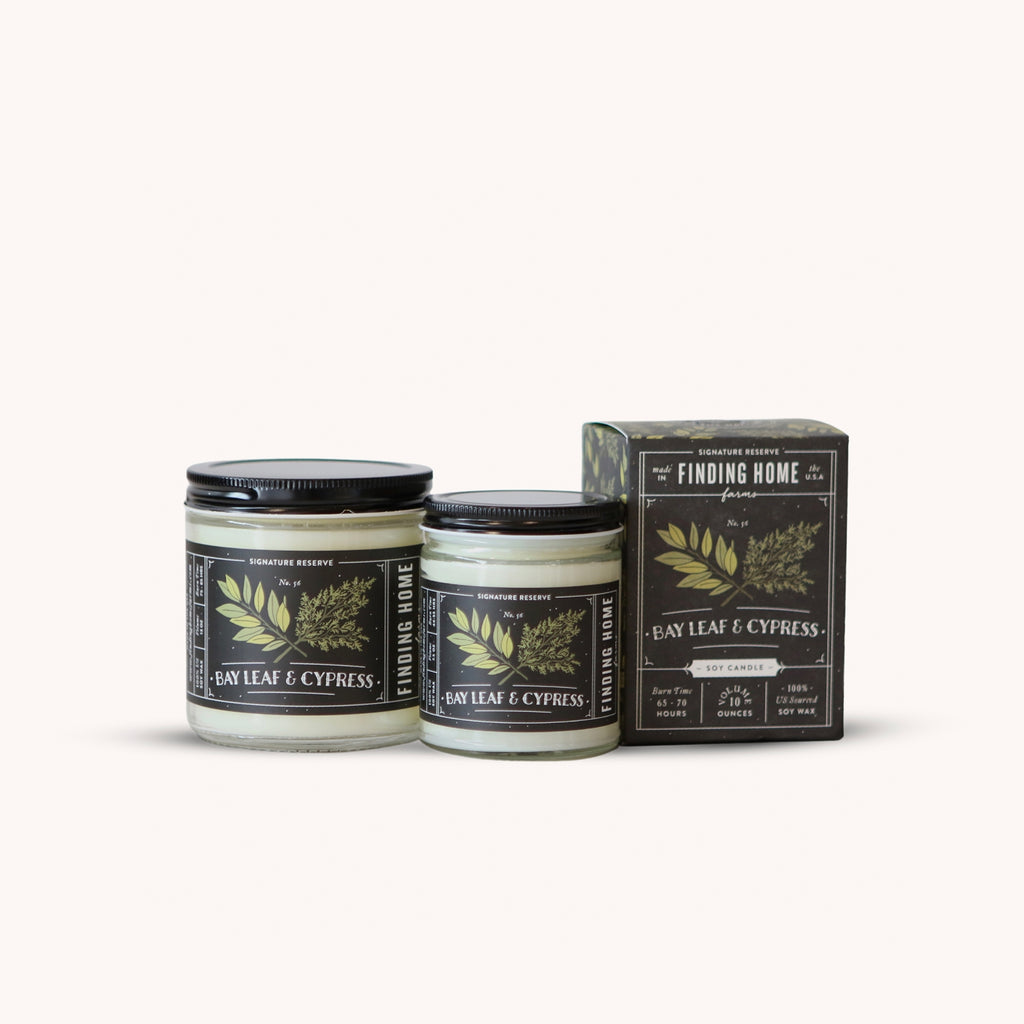 Bay Leaf & Cypress - Fresh Scented Candles - Finding Home Farms
