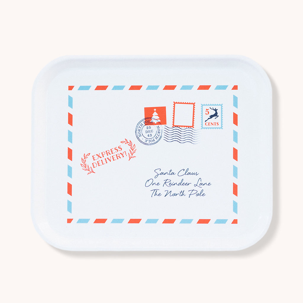 Santa Envelope Serving Tray - Small Fiberglass Tray - Finding Home Farms