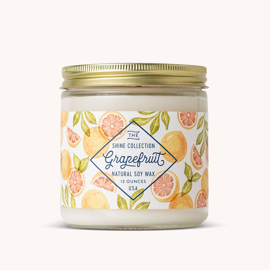 Grapefruit Soy Candle - 13 oz Jar Candle - Fruit Scented Candle - Finding Home Farms