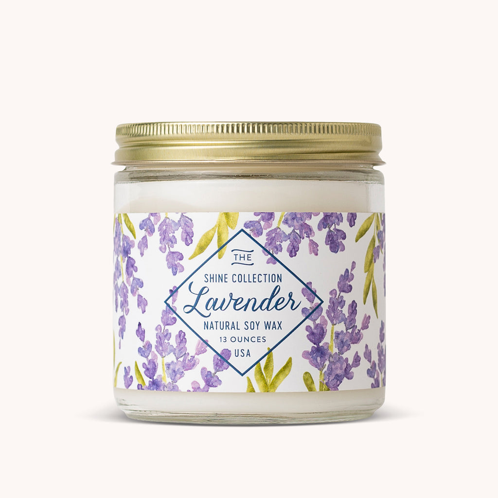 Lavender Soy Candle - Lavender Scented Candles - Floral Candle - Finding Home Farms
