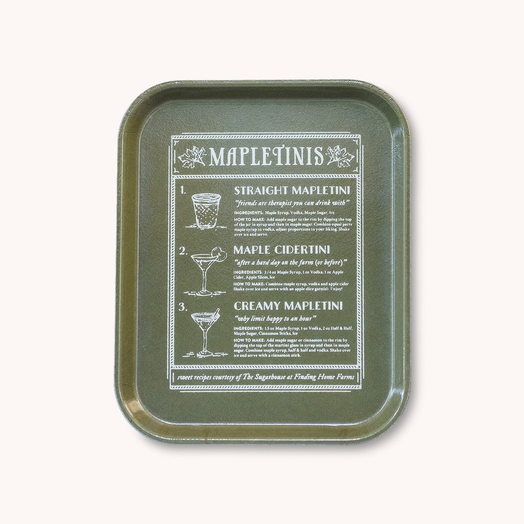 Mapletinis - Fiberglass Serving Tray - Cocktail Recipes