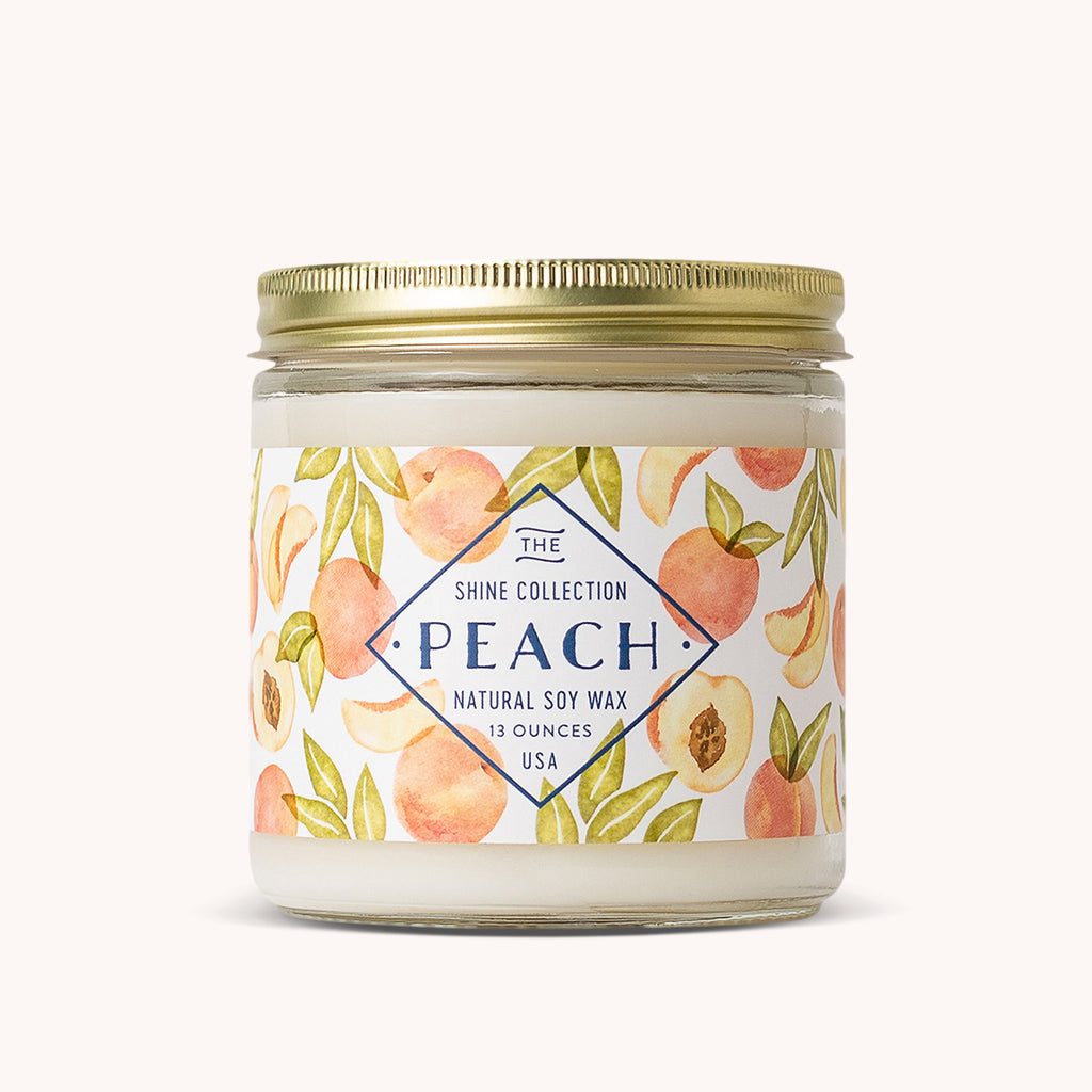 Peach Soy Candle - Natural Soy Wax - Fruit Scented Candle - Finding Home Farms