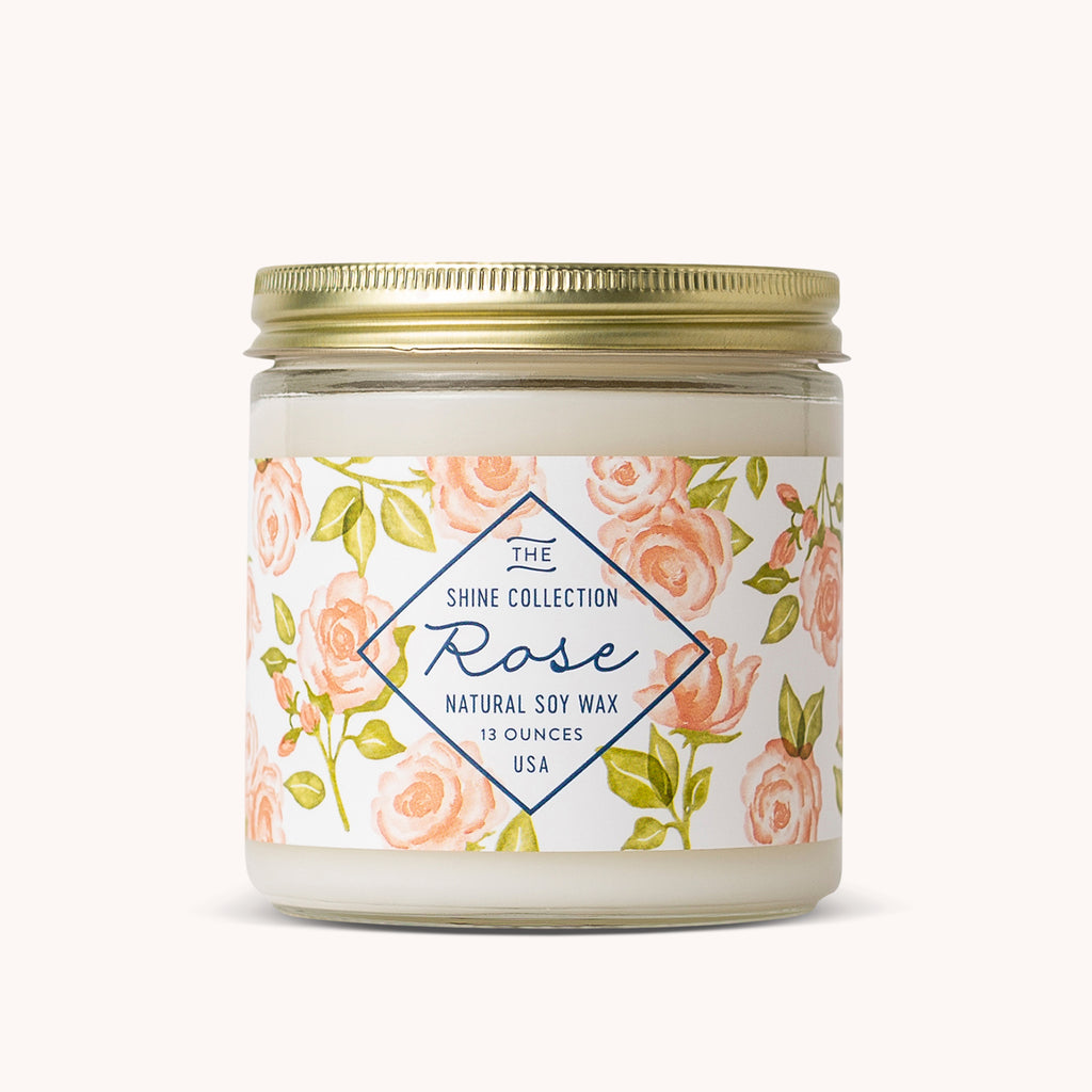 Rose Soy Candle - Rose Scented Candles - Floral Candle - Finding Home Farms