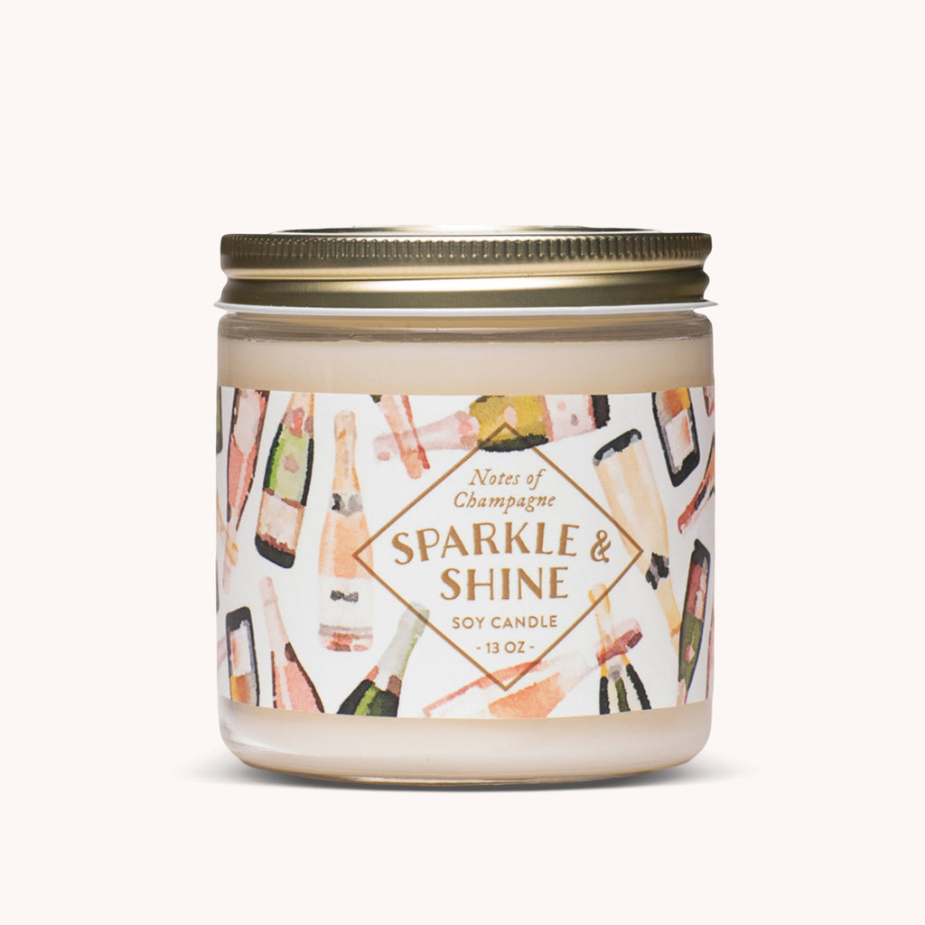 Sparkle & Shine Soy Candle - Champagne Scented Candle - Refreshing Candle - Finding Home Farms